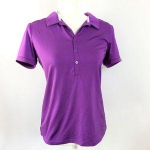 K-Swiss Polo Shirt Purple Women Size Medium